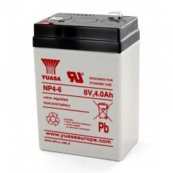 Batterie plomb 6V 4Ah Yuasa 70 X 47 X 105,5