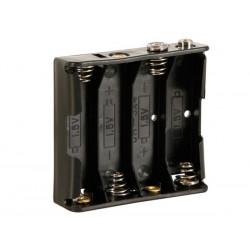 Coupleur pour 4 piles AA (LR06) rectangulaire avec contacts à pression