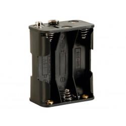Coupleur pour 6 piles AA (LR06) avec contacts à pression