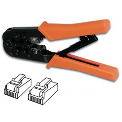 Pince à sertir pour connecteurs RJ11, RJ12, RJ45