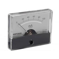 Ampèremètre 100mA CC analogique 60 x 47mm