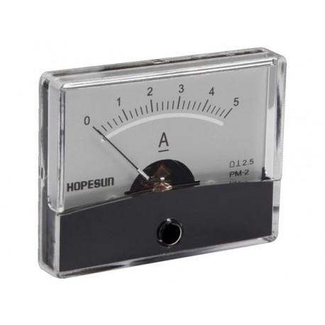 Ampèremètre 5A CC analogique 60 x 47mm