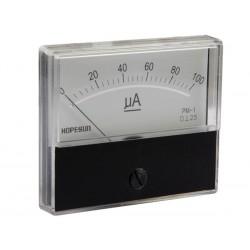 Ampèremètre 100µA CC analogique 70 x 60mm