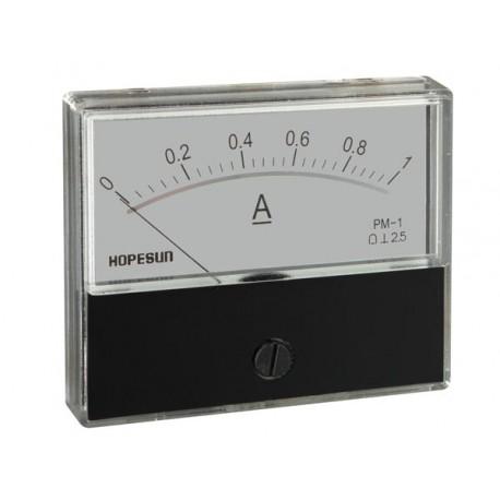Ampèremètre 1A CC analogique 70 x 60mm