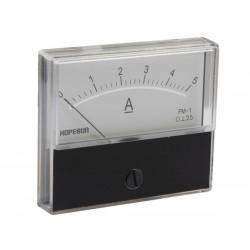 Ampèremètre 5A CC analogique 70 x 60mm