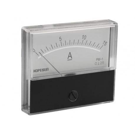 Ampèremètre 15A CC analogique 70 x 60mm