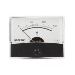 Voltmètre 150 V AC 60 x 47mm analogique de tableau