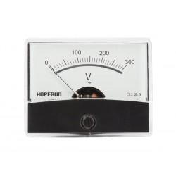 Voltmètre 300 V AC 60 x 47mm analogique de tableau