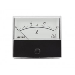 Voltmètre 30 V CC 70 x 60mm analogique de tableau