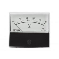 Voltmètre 50 V CC 70 x 60mm analogique de tableau