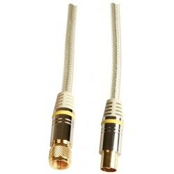 Cordon antenne 1.5m mâle, fiche F