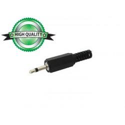 Connecteur jack 2.5mm mono plastique noir à souder