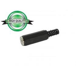 Connecteur jack 2.5mm stéréo femelle plastique noir à souder