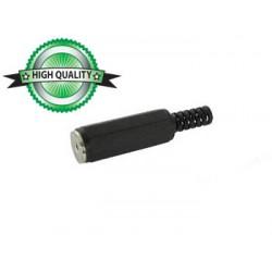 Connecteur jack 2.5mm mono femelle plastique noir à souder