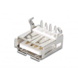 Connecteur USB A femelle coudé pour CI