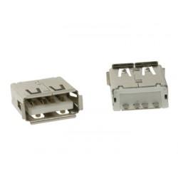 Connecteur USB A femelle droit pour CI