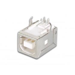Connecteur USB B femelle coudé pour CI