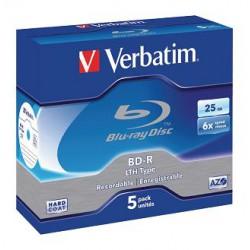 Pack de 5 Blu Ray R/W 25 GB Verbatim