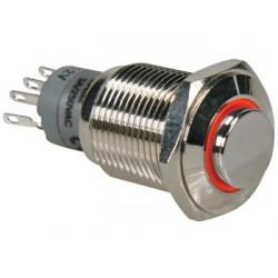 Interrupteur poussoir diamètre 18mm