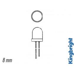 Led 8mm standard diffusant
