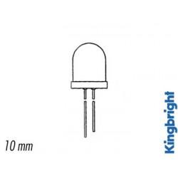 Led 10mm standard boîtier clair