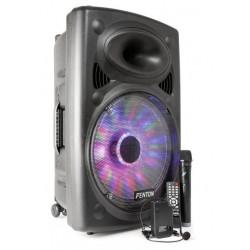 """Enceinte autonome amplifié 15"""" 800 W avec lecteur MP3, Bluetooth"""