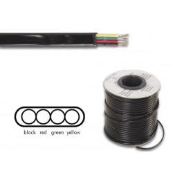 Câble téléphonique 4x0.08mm² plat noir