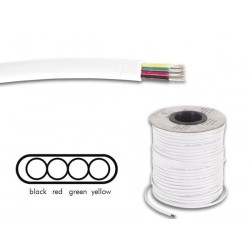 Câble téléphonique 4x0.08mm² plat blanc