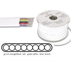 Câble téléphonique 8x0.08mm² plat blanc