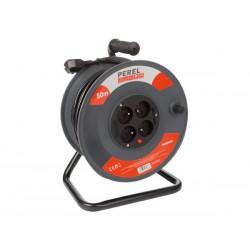 Enrouleur de câble 50m 3G1.5, 4 prises