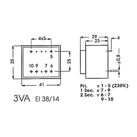 Transformateur moulé 3VA