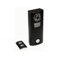Caméra avec alarme à détection de mouvement et télécommande
