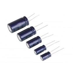 Condensateur de 0.47 à 10 mF radial polarisé 105°C