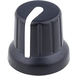 Bouton Ø15.8mm, pour axe de 6.35mm