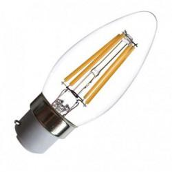 Ampoule Led 4W 380lm flamme B22 blanc chaud