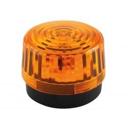 Flash stroboscopique ambré à led 12Vcc 100mm