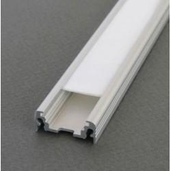 Profilé plat en aluminium brut pour led