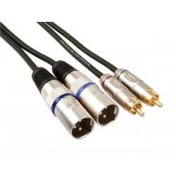 Cordon audio XLR mâle, RCA mâle 1m