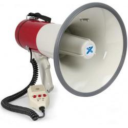 Mégaphone 50W siréne, enregistrement