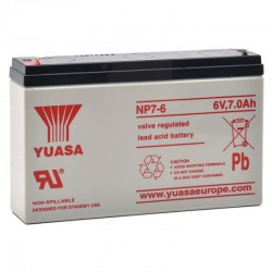 Batterie plomb 6V 7Ah Yuasa 151 X 34 X 97.5