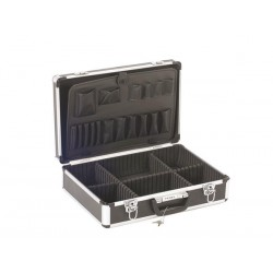 Valise aluminium 455 x 330 x 152 mm noir