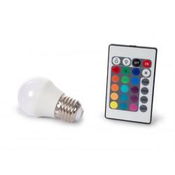 Ampoule LED RVBW 4W à vis gros culot