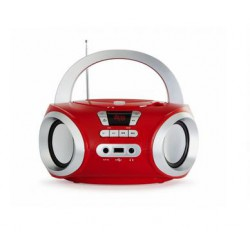 Radio CD, Bluetooth, USB MP3, rouge