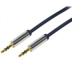 Cordon audio jack stéréo 3.5mm mâle 1.5m