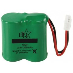 Batterie 2.4V NiMH pour téléphone sans fil 300mAh