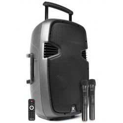 """Enceinte amplifié autonome 15"""" 800 W avec lecteur MP3, Bluetooth"""