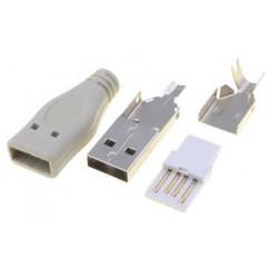 Fiche USB type A mâle à souder