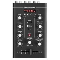 Table de mixage 2 canaux, Bluetooth, MP3 avec afficheur