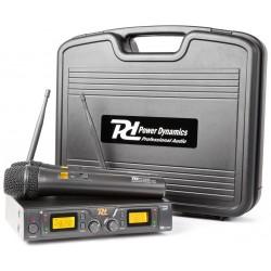 Double microphone UHF à 2 canaux sans fil