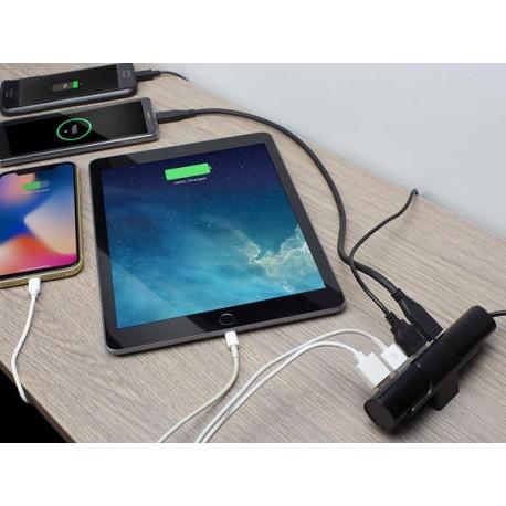 Chargeur USB de bureau, 4 ports dont 1 USB-C